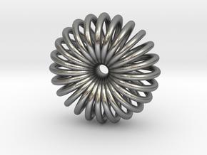 Torus Pendant necklage in Natural Silver