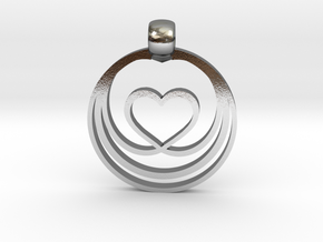Waves of Love in Polished Silver
