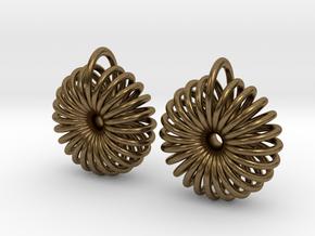 Torus Earrings in Natural Bronze