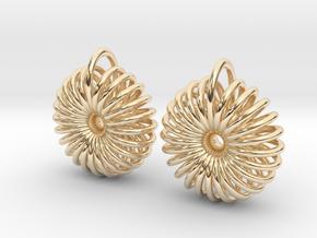 Torus Earrings in 14k Gold Plated Brass