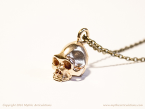 Sasquatch Skull Pendant in Natural Bronze