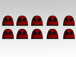 Angels Encarmine Shoulder Pads With Trim X10 in Frosted Extreme Detail