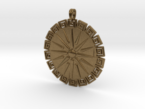 Vergina Sun Pendant Jewelry Symbol in Natural Bronze