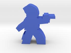 Game Piece, Squid Head Alien Outlaw in Blue Processed Versatile Plastic