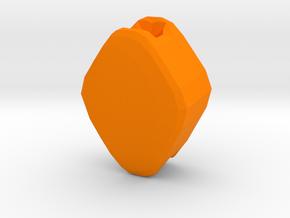 Playing Card Beads - Diamonds in Orange Processed Versatile Plastic