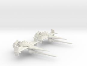 Swordfish II (30mm) in White Natural Versatile Plastic