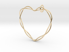 Woven Heart with Bail in 14K Yellow Gold: Extra Small