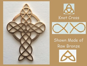 Knot Cross in Natural Bronze