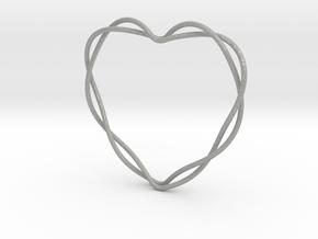 Woven Heart in Aluminum: Extra Small