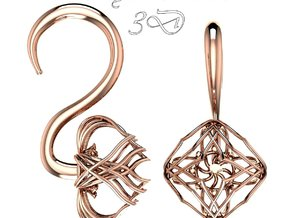 Plugs / gauges/ The Lotus Plug 4g (5 mm) in 14k Rose Gold Plated Brass