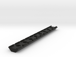 21mm Rail 160mm in Black Strong & Flexible