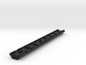 20mm Rail 160mm in Black Natural Versatile Plastic