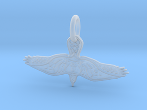 Eagle Pendant in Smooth Fine Detail Plastic