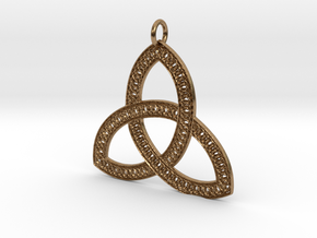 Celtic Knot Pendant in Natural Brass