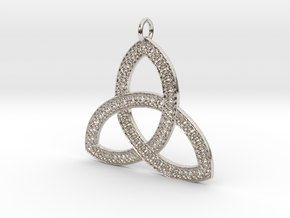 Celtic Knot Pendant in Rhodium Plated Brass