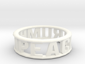 Impeach Trump Bangle in White Processed Versatile Plastic