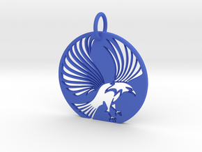 Eagle Keychain in Blue Processed Versatile Plastic