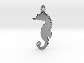Seahorse Pendant in Polished Silver