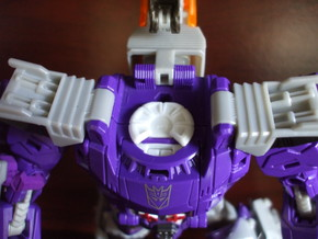 Transforming Neck Unit for TR Galvatron in White Processed Versatile Plastic