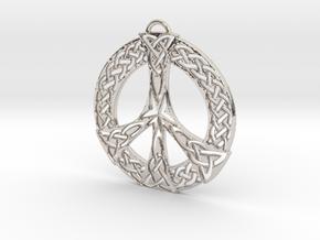 Celtic Peace Symbol Pendant in Platinum