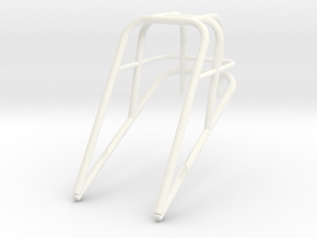 Roll Cage Frame Top Only 1/12 in White Strong & Flexible Polished