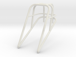 Roll Cage Frame Top Only 1/25 in White Natural Versatile Plastic