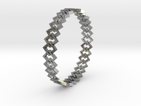 Square Bracelet 2 in Natural Silver (Interlocking Parts)