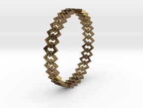 Square Bracelet 2 in Natural Bronze (Interlocking Parts)