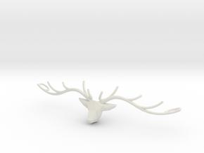Deer head pendant in White Natural Versatile Plastic