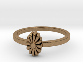 Flora Ring (size 6-13) in Natural Brass: 11 / 64