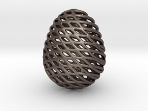 Eggtype in Polished Bronzed Silver Steel