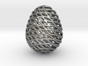 Eggtype in Natural Silver