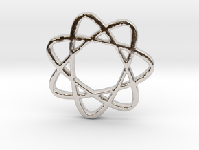 Infinatom in Rhodium Plated Brass