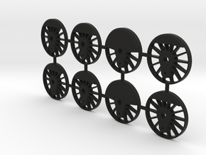 TH&B Driving Wheel Centres Set 1-32 Mk1 in Black Natural Versatile Plastic