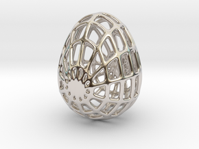 PANALING Egg in Rhodium Plated Brass