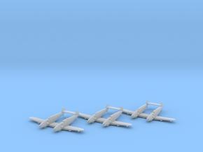 Messerschmitt Bf-109 Z 'Zwilling' x3 1:200 FUD in Smooth Fine Detail Plastic: 1:200