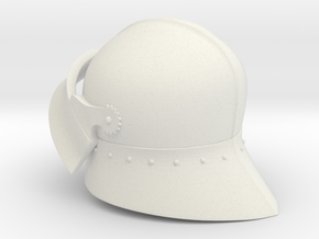 Medieval Sallet compatible with playmobil figure in White Natural Versatile Plastic
