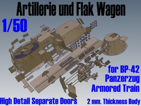 1-50 Sep-Parts A-Wagen For BP-42 in White Strong & Flexible