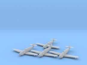 Messerschmitt Bf-109 G-4 'Gustav' 1:200 x4 FUD in Smooth Fine Detail Plastic: 1:200