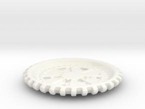 Plate01 in Gloss White Porcelain