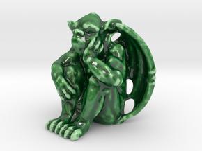 Bored Gargoyle in Gloss Oribe Green Porcelain