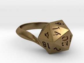 D20 Ring in Natural Bronze: 5 / 49