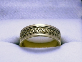 Braided Knot Ring in Polished Brass: 7 / 54