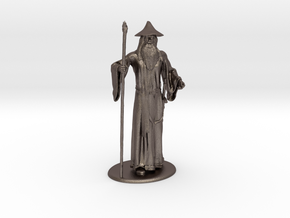 Gandalf Miniature in Polished Bronzed Silver Steel: 1:60.96