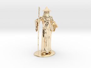 Gandalf Miniature in 14K Yellow Gold: 1:60.96