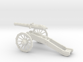 AF French gun 16 Pounder 7 Years War 28mm in White Natural Versatile Plastic