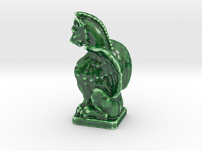 Lion-Face & Nice Hair Gargoyle  in Gloss Oribe Green Porcelain