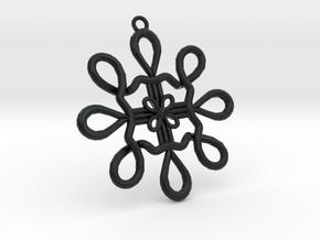 Celtic Ear Ring Design in Black Hi-Def Acrylate