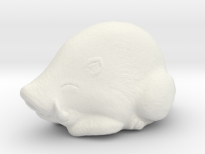Hog Netsuke  in White Natural Versatile Plastic