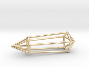 Phi Vogel Crystal - 5 Sided in 14k Gold Plated Brass